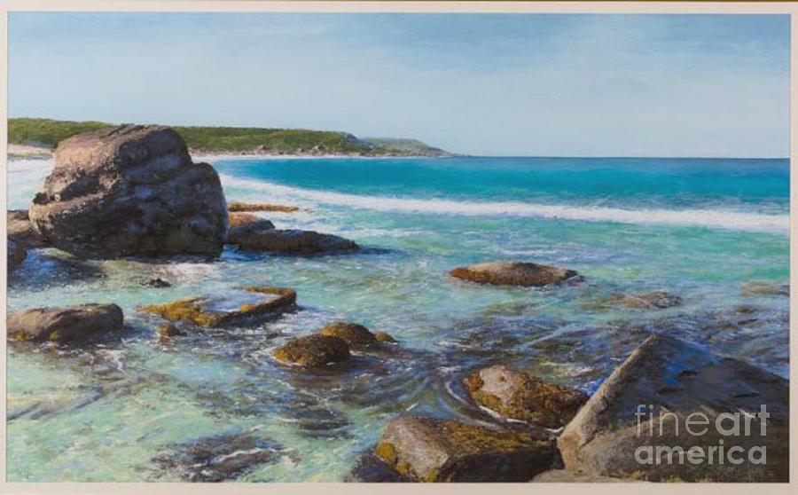 Pastel Painting - Oceans Edge by Gary Leathendale