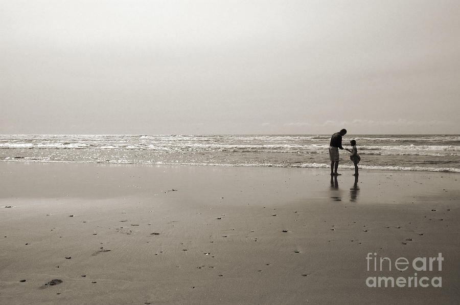 Beach Photograph - Oceanside Discovery 2 - Toned by Kathi Shotwell