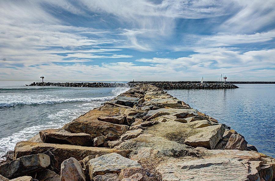 Oceanside Photograph - Oceanside Jetty by Ann Patterson