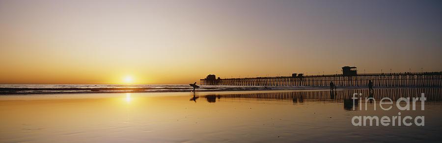 Amaze Photograph - Oceanside Pier, California by Bill Schildge - Printscapes