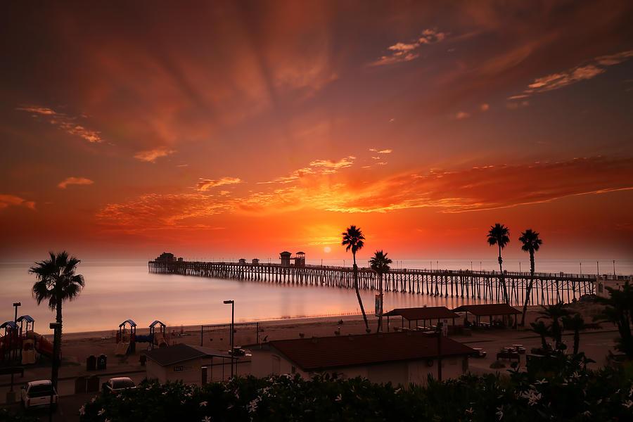 Larry Marshall Photograph - Oceanside Sunset 9 by Larry Marshall