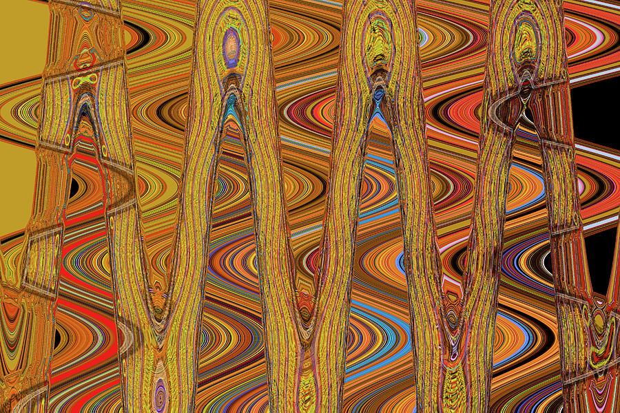 Oceanside Surfer Abstract. Digital Art by Tom Janca
