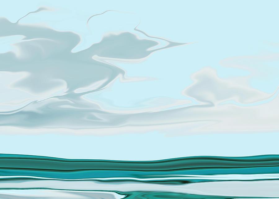 Seascape Digital Art - Oceanus Iv by Pauline Thomas