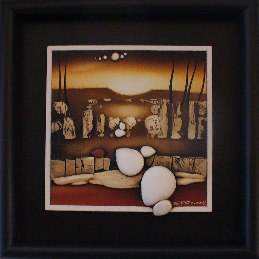 Abstract Art Painting - Ocekavani by Jan Skalicky