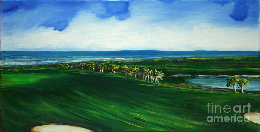 Golf Painting - Oceon Hammock Fairway by Michele Hollister - for Nancy Asbell