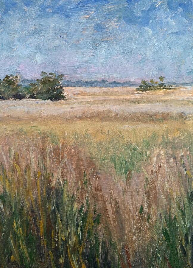 Landscape Painting - Ochlockonee Marsh by Pam Talley