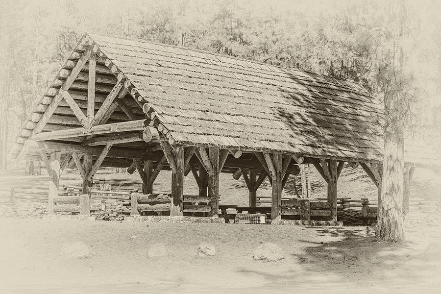 National Forest Photograph - Ochoco Nf Group Pavilion by Joe Hudspeth