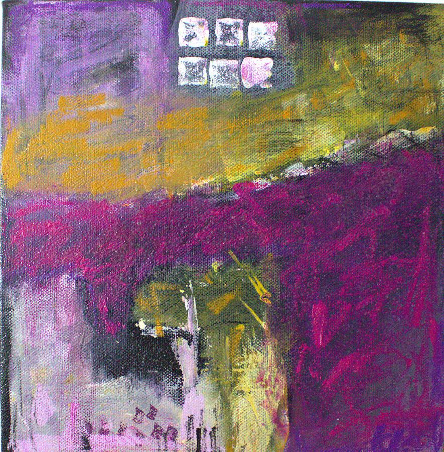 Black Painting - Ochre 17.1 by Shelley Graham Turner