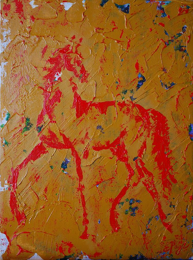 Horse Painting - Ochre Horse by Emily Page