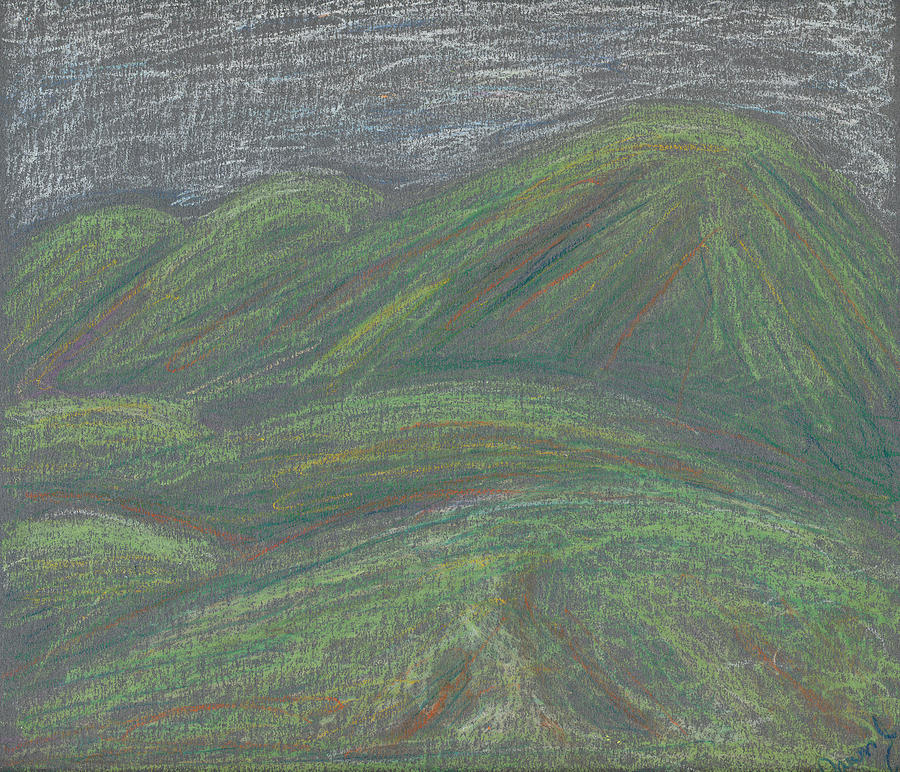 Mountain Pastel - Ochre Mountains by Dawn Marie Black