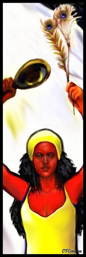 Oshun Digital Art - Ochun -the Goddess Of Love And Beauty  by Carmen Cordova