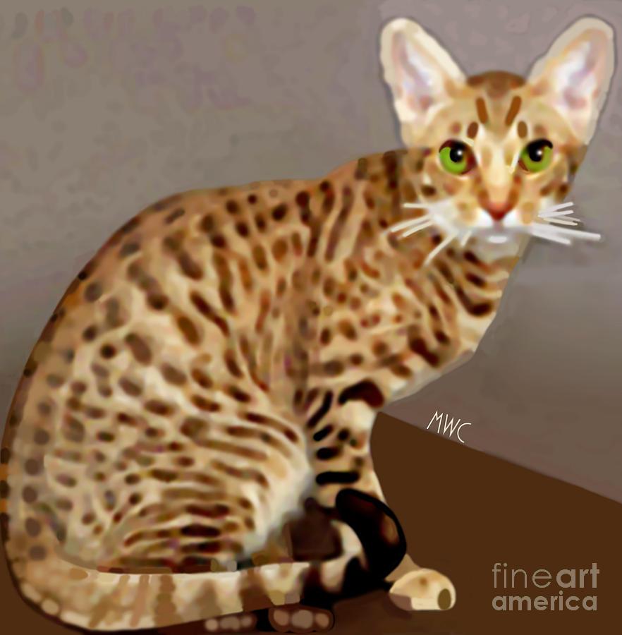 Ocicat Painting - Ocicat by Marian Cates