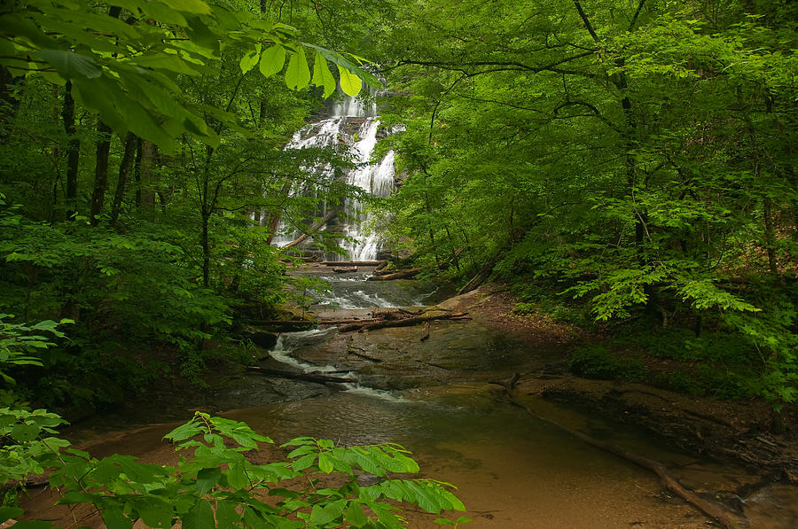 Color Photography Photograph - Oconee Station Waterfall by David Waldrop