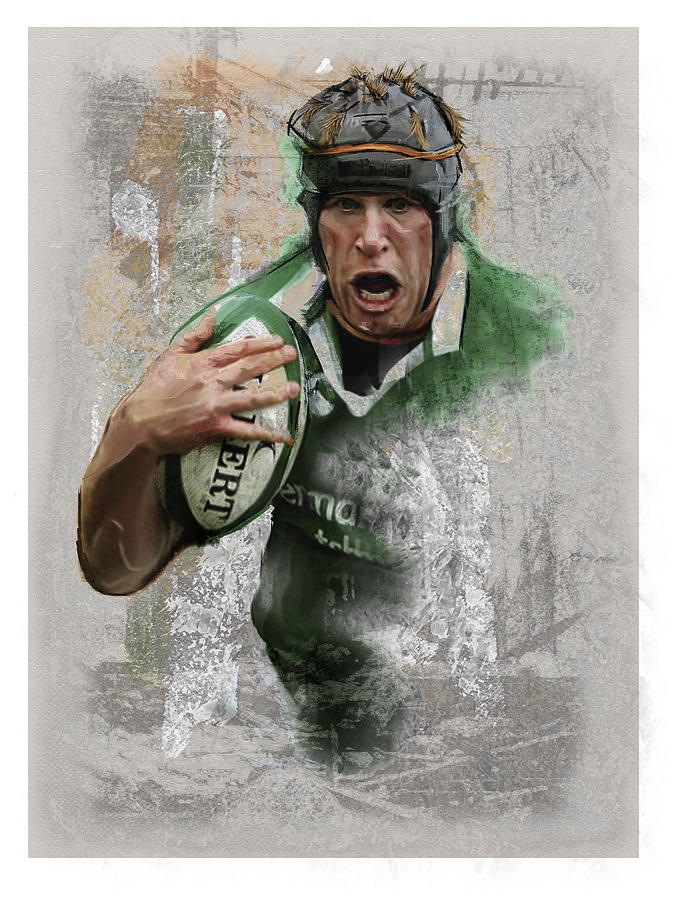 Rugby Painting - Oconell 3 by James Robinson