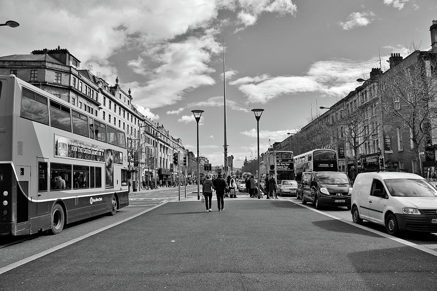 O'connell Street Photograph - Oconnell Street In Dublin by Marisa Geraghty Photography