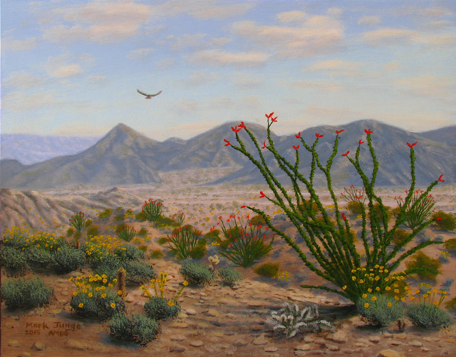 Painting Painting - Ocotillo Paradise by Mark Junge