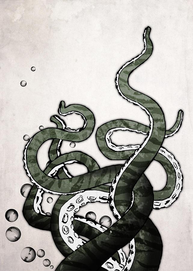 Octopus Digital Art - Octopus Tentacles by Nicklas Gustafsson