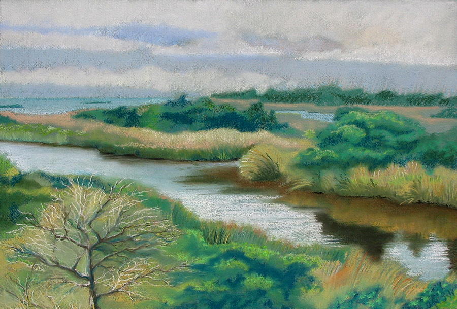 Ocracoke Painting - Ocracoke Afternoon by Shirley Galbrecht