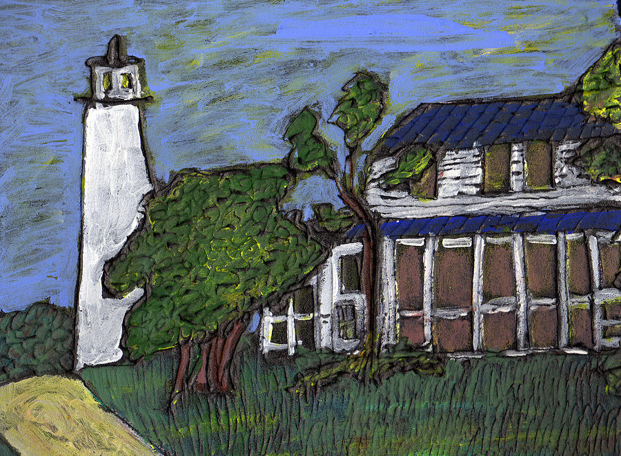 Light House Painting - Ocracoke Island Light House by Wayne Potrafka
