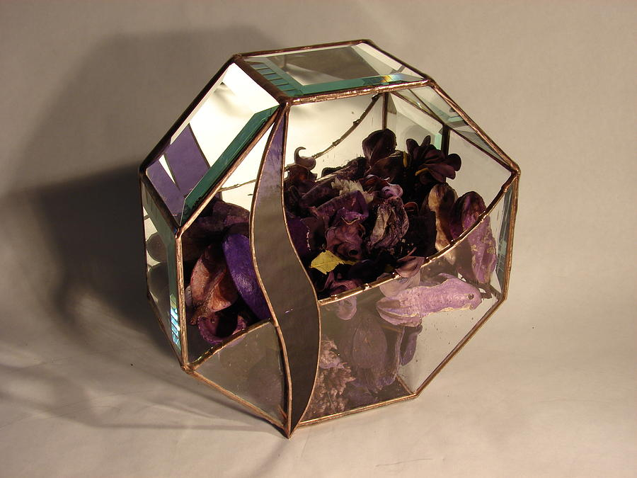 Great House Closing Gift Or Just Because. Glass Art - Octagon Potpourri  by Traverse Artglass