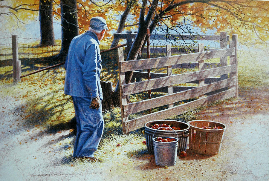 October Apples Painting by Tom Heflin