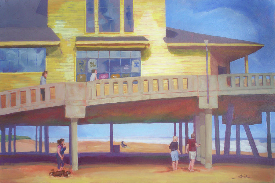 Beach Painting - October At Johnnie Mercers by Carol Strickland