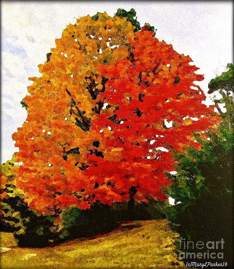 Tree Mixed Media - October Colors by MaryLee Parker