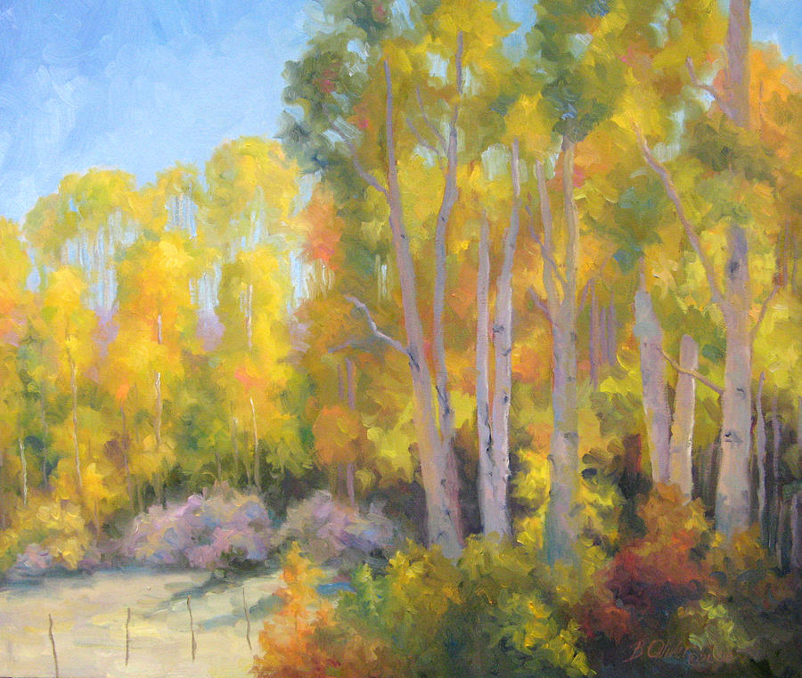 Autumn Painting - October Delight by Bunny Oliver