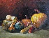Harvest Painting - October Harvest by Jan Harvey