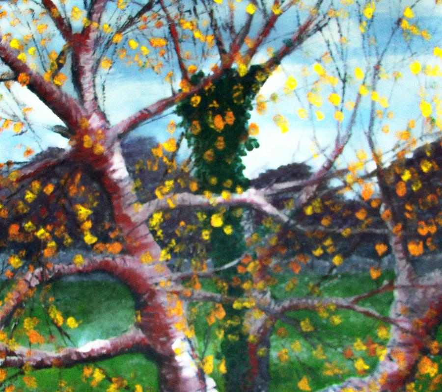 Nature Painting - October In Leitrim by Jean Davies