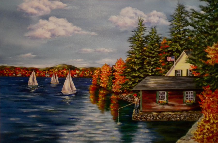 October in New England by Jan Law