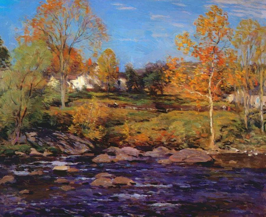 October morning no 1 painting by metcalf willard october painting october morning no 1 by metcalf willard thecheapjerseys Images