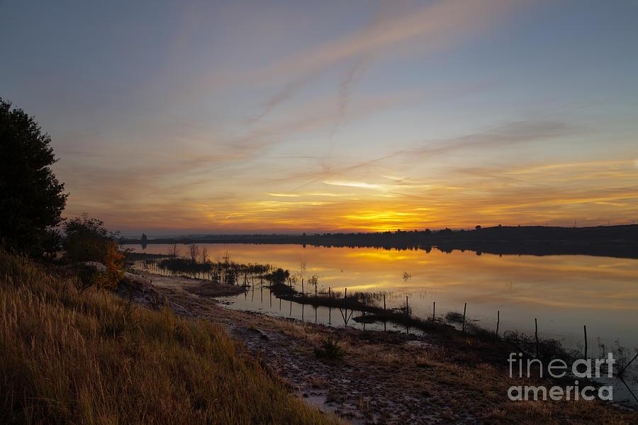 Rising Sun Photograph - October Morning by Steffen Krahl
