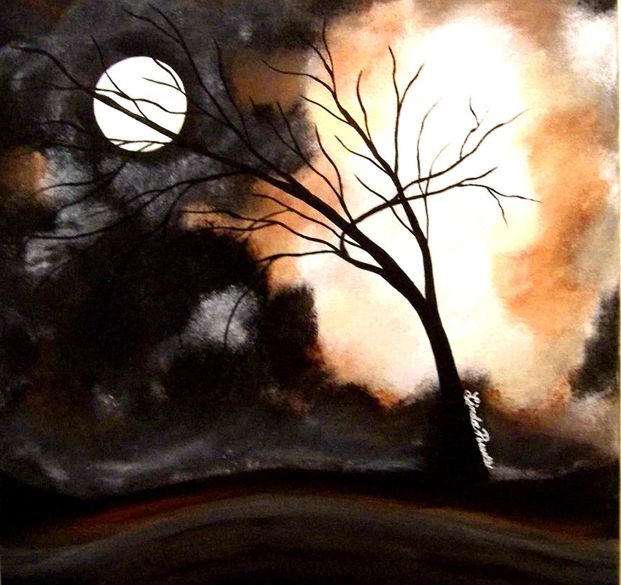 Abstract Painting - October Night 4 by Linda Powell