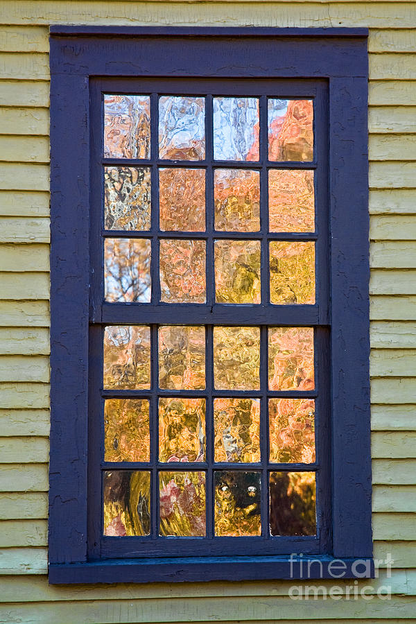 Colonial Photograph - October Reflections 1 by Edward Sobuta
