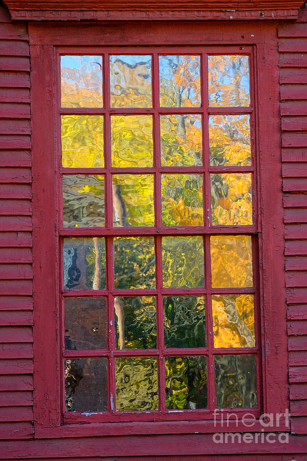 Colonial Photograph - October Reflections 2 by Edward Sobuta