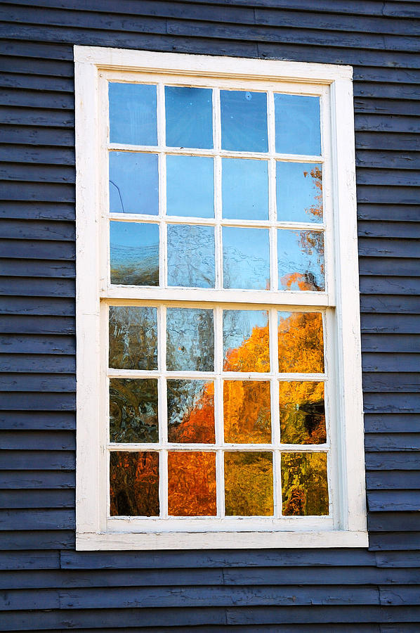 Colonial Photograph - October Reflections 4 by Edward Sobuta