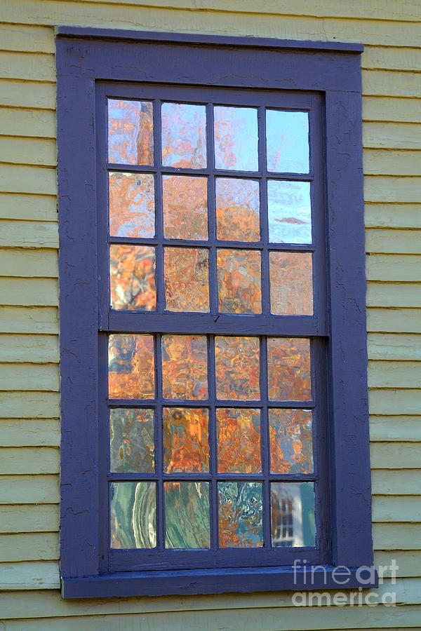 Colonial Photograph - October Reflections 5 by Edward Sobuta