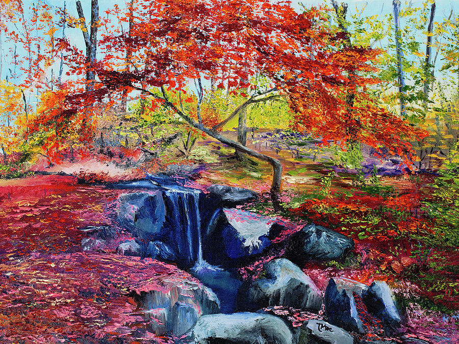 Fall Colors Painting - October Riot by Terry R MacDonald