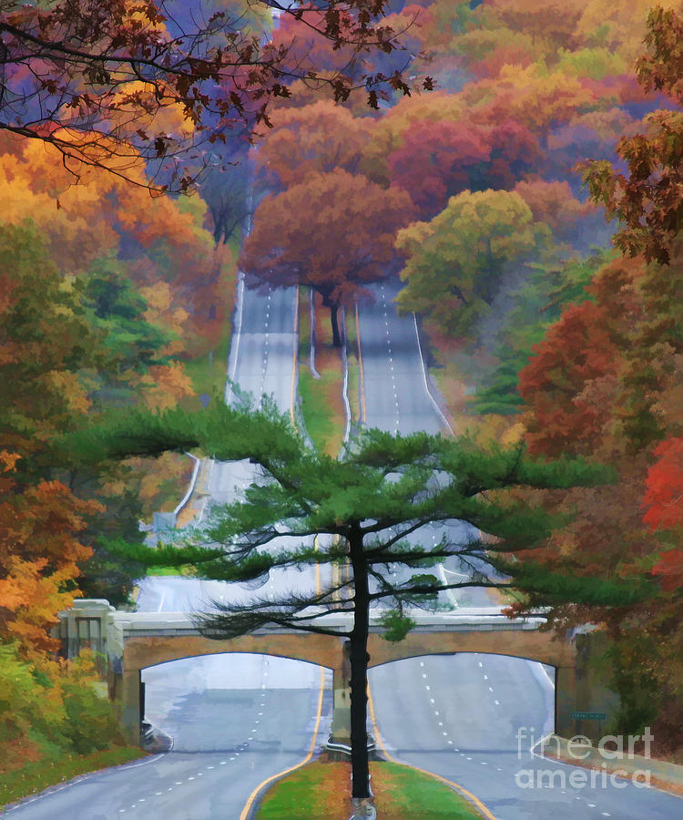 Road Digital Art - October Road by Christine Segalas