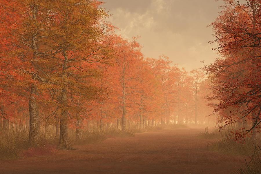 October Road Digital Art - October Road by Mindscape Arts