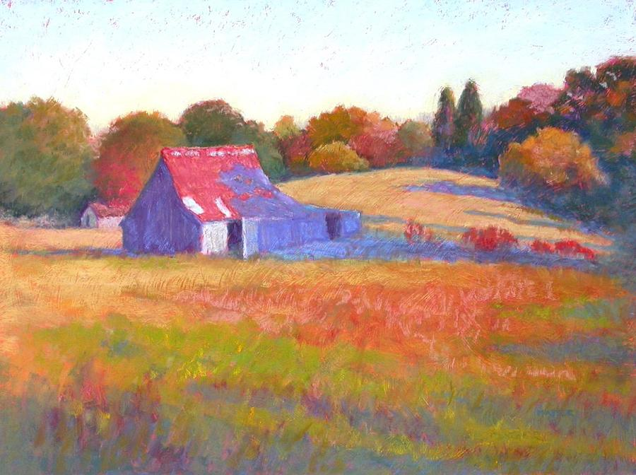 Landscape Painting - October Shadows by Julie Mayser
