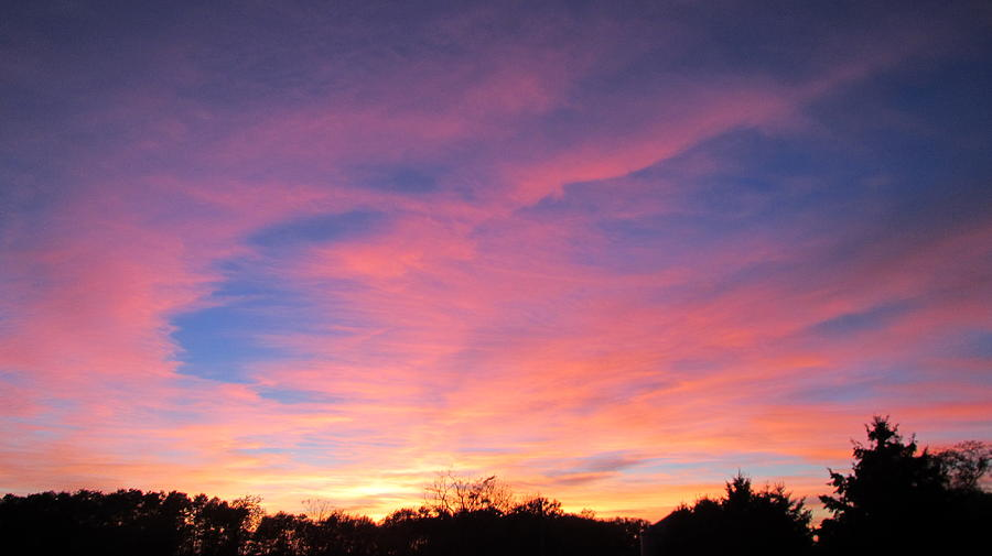Sunset Photograph - October Sky by Denise   Hoff