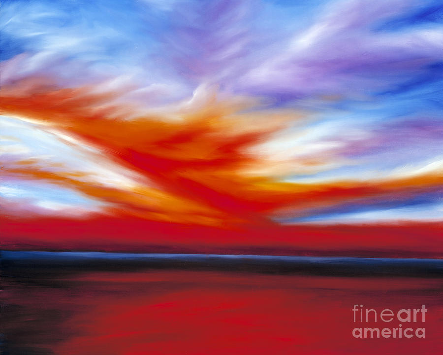 Seascape Painting - October Sky II by James Christopher Hill