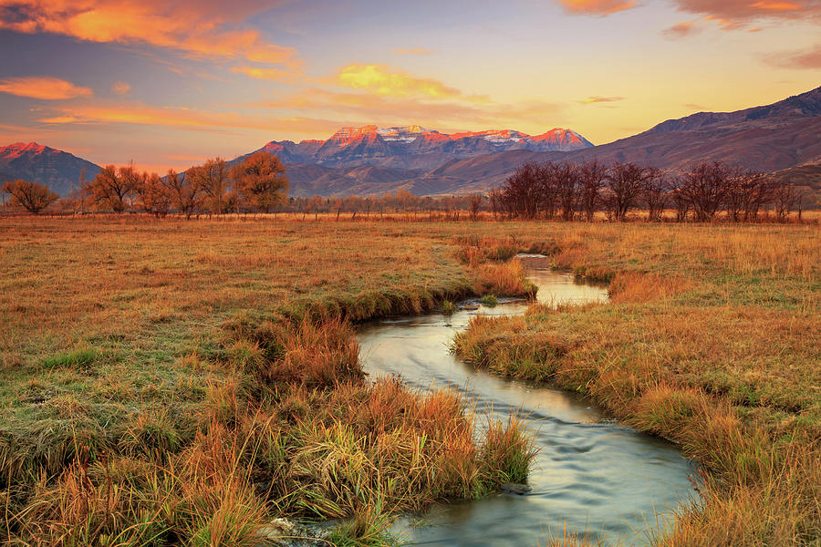 Winding Photograph - October Sunrise In Heber Valley. by Johnny Adolphson