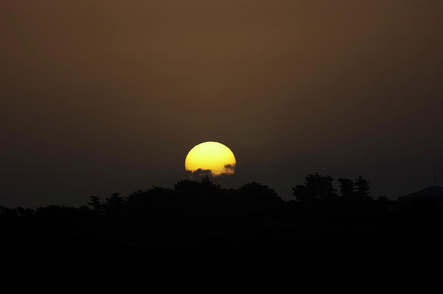 Sunset Photograph - October Sunset by Peter Hill