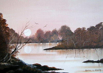 October Suset Painting by Cathal O malley