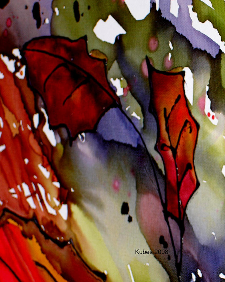 Leaf Mixed Media - Octoberfirst by Susan Kubes