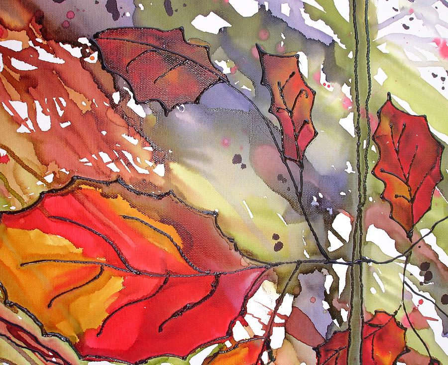 Leaf Mixed Media - Octoberthird by Susan Kubes