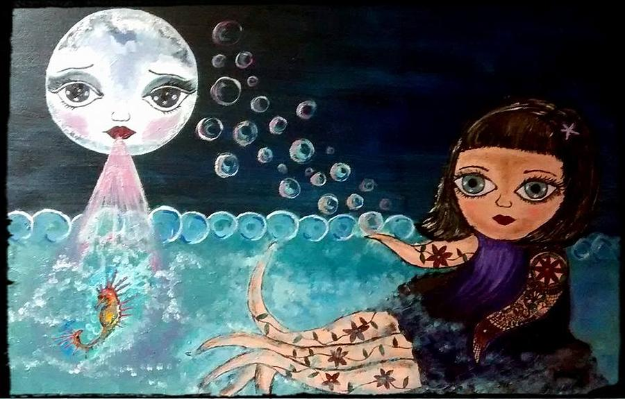 Octopus Girl Painting by Kika Coles